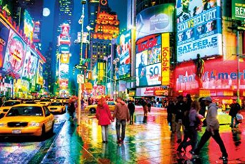 New York City Times Square Lights Photo Art Print Poster 36x24 (New York City Poster Broadway)