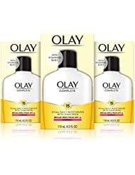 Olay Complete Lotion Moisturizer with SPF 15 Normal, 4.0 Fluid Ounce, 3 Count