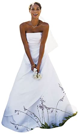 sample wedding dress satin a line with asymmetrical skirt style ai15040234