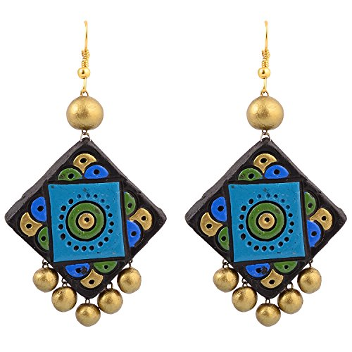 Avarna Terracotta Large Earring ERD0002 Multi-Colour
