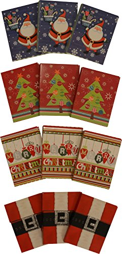 Gift card holder, velcro closure, assorted christmas designs, pack of - Card Return Cash For Gift
