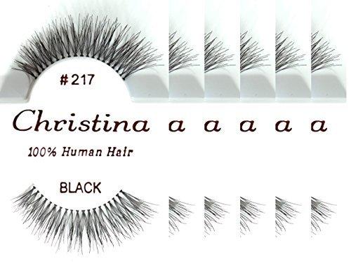 Christina 100% Human Hair False Eyelashes (#217-6Pack)