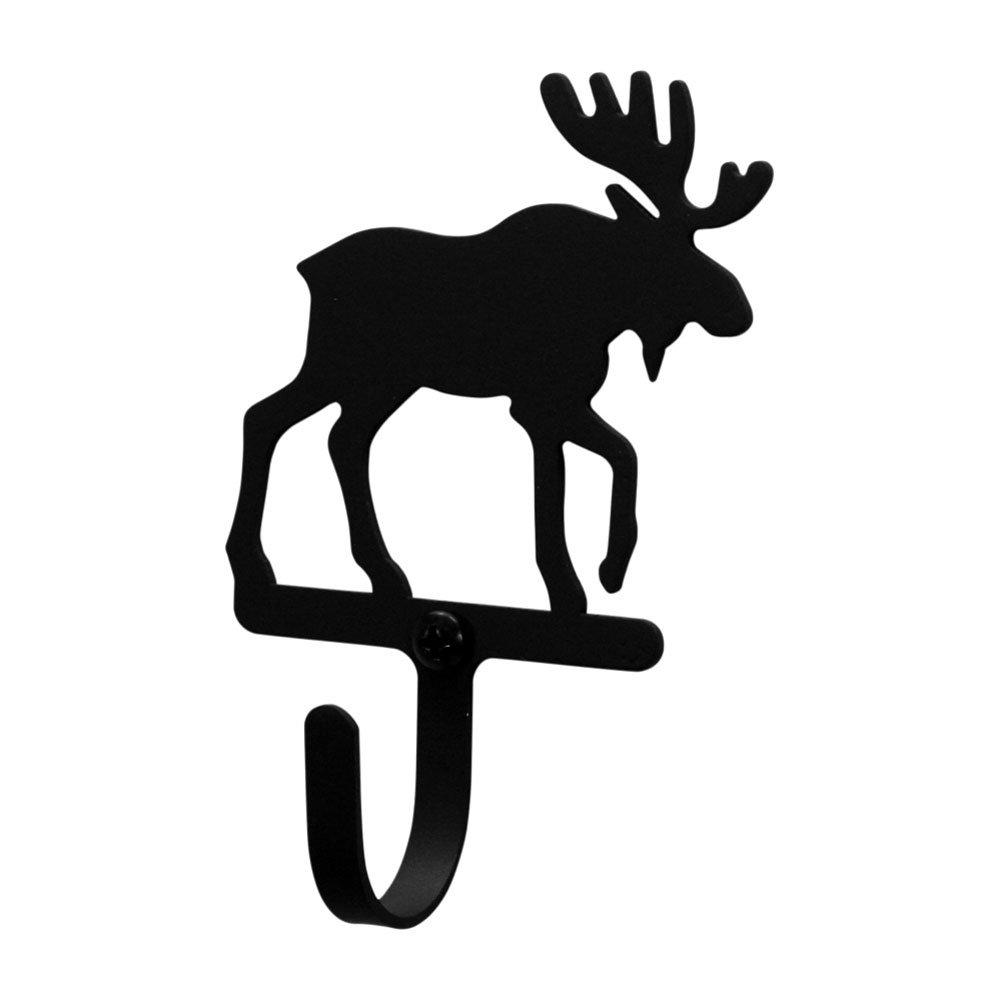 Wrought iron Moose Wall Hook Sm Black metal