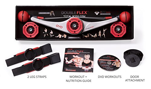 DoubleFlex Portable Home Gym for Total Body Workout and Resistance and Strength Training with Exercise DVD for Legs, Arms and Abs