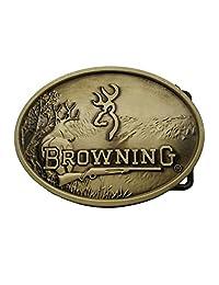 Deer Browning Hunting Belt Buckle Bronze