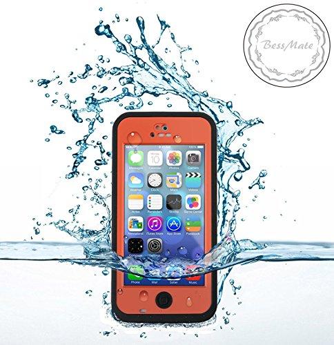 Bessmate™ 2 Meters Underwater Waterproof Dirtproof Snowproof Shockproof Skin Hard Phone Shell Rugged Protection Case Apple iPhone 5c (Orange) by Bessmate