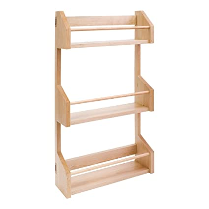 Hardware Resources SPR15 Wall Cabinet Spice Rack, Hard Maple