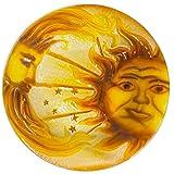 Continental Art Center 18'' sun and moon glass plate