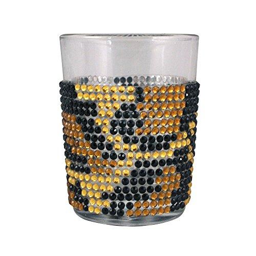 Bling Oversized Leopard Print Shot Glass, 4-Ounce, Silver
