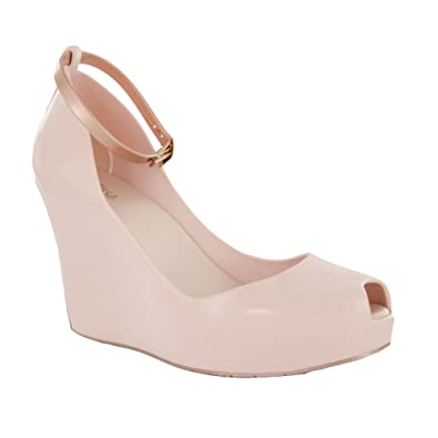 Amazon.com | Melissa Shoes Women's Patchuli X Light Pink Wedge ...