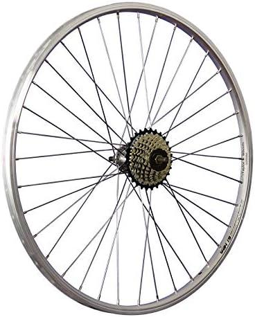 Taylor-Wheels 26 Pulgadas Rueda Trasera Bici piñón Rueda Libre 7 Plateado: Amazon.es: Deportes y aire libre