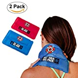 "Old Bones Therapy Hot & Cold Gel Pack Bundle (2 Pack, Blue + Red, Size: 11"" x 6.5"") : Large Reusable Ice & Heat Pack for Knee, Shoulder, Back & Neck Pain Relief"