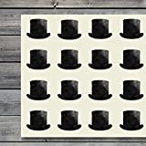 Top Hat Craft Stickers, 44 Stickers at 1.5 Inches, Great Shapes for Scrapbook, Party, Seals, DIY Projects, Item 1321630