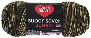 RED HEART Super Saver Jumbo Yarn, Camouflage