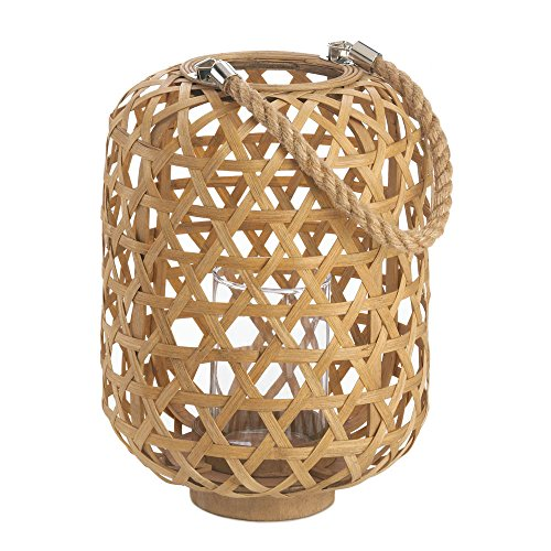 Home Decor Large Woven Bamboo Lantern (Large Woven Bamboo)