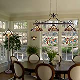 Cotoss Pool Table Lights, 3-Light Tiffany Dining