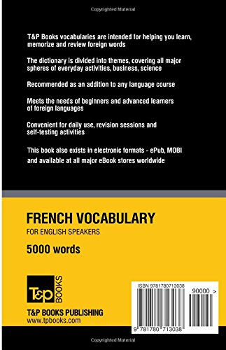 Download PDF French Vocabulary for English Speakers - 5000