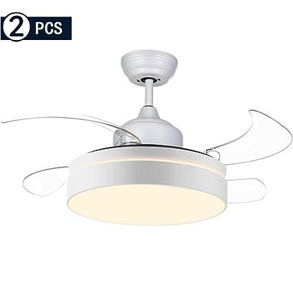 Ventilador de techo con luz Silencioso Control Remoto Smart ...