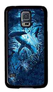 Soft Samsung Galaxy S5 Case Hammerhead Shark Cool Samsung S5 Cases PC Black Case for Samsung Galaxy S5 /SV /I9600