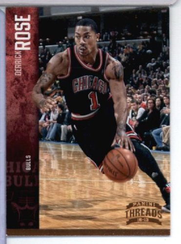 bbecaaad10f9 Image Unavailable. Image not available for. Color  2012 13 Panini Threads Basketball  Card   15 Derrick Rose ...