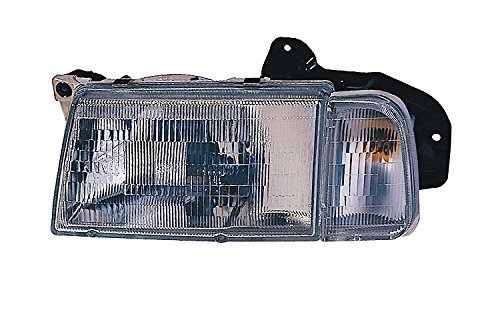 30020200 Headlamp (Replacement Depo 332-1168L-ASC Driver Side Headlight for 89-97 Geo Tracker 30000155 30020200 30015942 GM2502191 GM2502179)