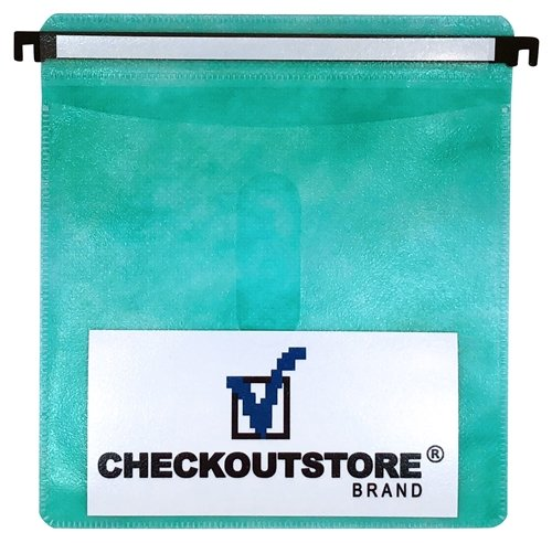 CheckOutStore 100 CD Double-Sided Refill Plastic Hanging Sleeve - Green ()