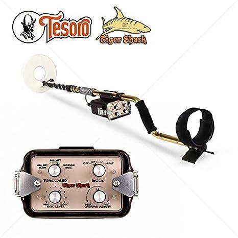 Detector de metales Tesoro TIGER SHARK-Detector de metales, diseño de playa: Amazon.es: Jardín