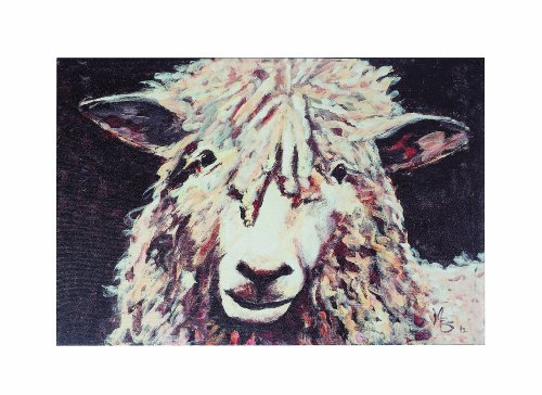 Creative Co-Op Casual Country Canvas Art with Sheep