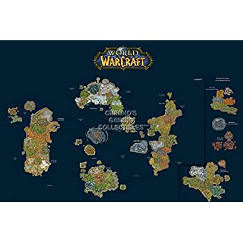 Amazon cgc huge poster world of warcraft world map pc cgc huge poster world of warcraft world map pc ext185 24 x gumiabroncs Images
