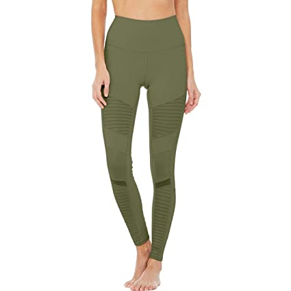 c0cf153516 Image Unavailable. Image not available for. Color: Alo Yoga High-Waist Moto  Legging - Women's ...