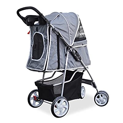 PetsN'all Foldable Pet Stroller - Gray
