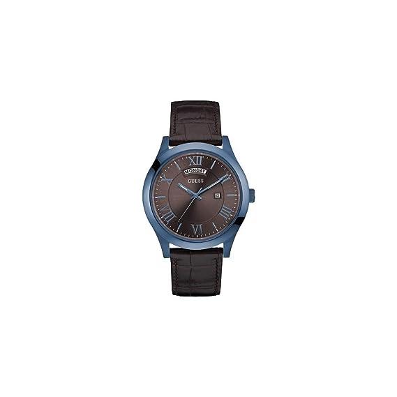 GUESS Reloj Analógico para Hombre de Cuarzo con Correa en Cuero W0792G6: Amazon.es: Relojes