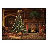 Allenjoy 7x5ft Christmas Eve Photography Backdrops Vintage Living Room Xmas Tree Fireplace Presents Year Party Decorations Background Photo Studio Props