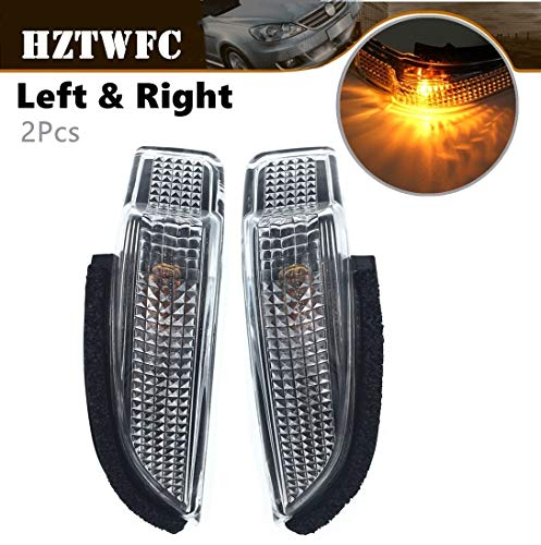 (HZTWFC 2pcs Mirror Indicator Turn Signal Repeater Lamp 81730-52100 81740-52050 Compatible for Toyota Corolla Camry Yaris Prius Scion Venza)