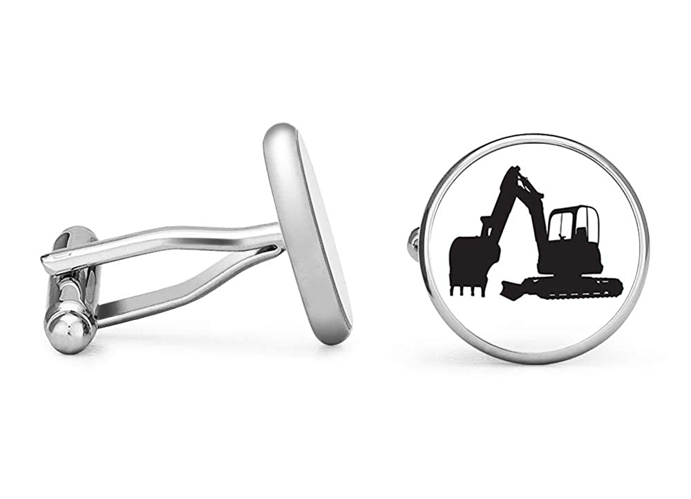 Contoured Edition Oakmont Cufflinks Backhoe Cufflinks Heavy Machinery Cuff Links