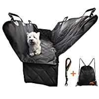 Dog Car Seat Cover by Bern&Moritz with Dog Seat Belt and Side Flaps for Door Protection, Back Seat Protector and Pet Hammock for Cars, SUV, Truck, 100% Waterproof, Non-slip, Durable, Convertible