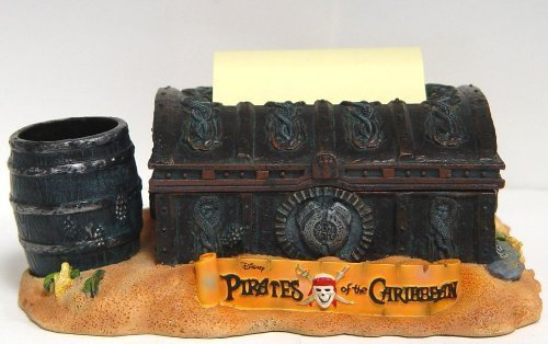 Disney Sticky Note & Pen Holder Pirates of Caribbean Desk Organizer