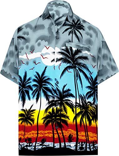(LEELA Likre Soft Silk Printed Pocket Shirt Grey 261 2XL |Chest 54