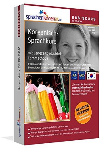 Koreanisch-Basiskurs mit Langzeitgedächtnis-Lernmethode von Sprachenlernen24: Lernstufen A1 + A2. Koreanisch lernen für Anfänger. Sprachkurs PC CD-ROM für Windows 10,8,7,Vista,XP / Linux / Mac OS X