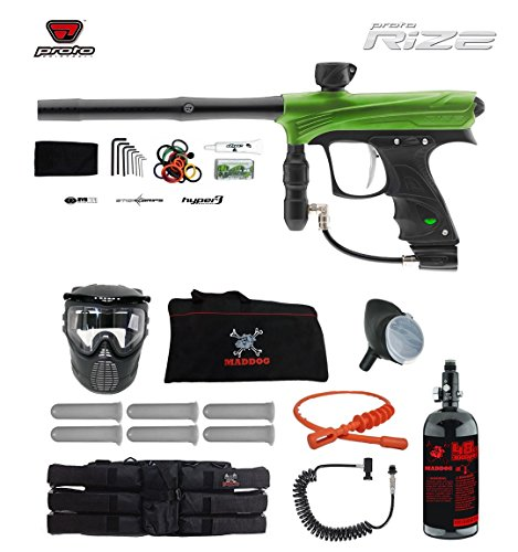 MAddog Proto Rize Corporal HPA Paintball Gun Package - Lime Dust