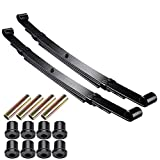 AW Set of 2 Rear Leaf Springs Compatible with Club Car Precedent Golf Cart Heavy Duty Dual Action with Bushings