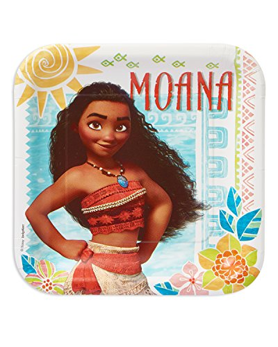 "American Greetings Moana 9"" Square Plate"