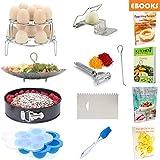 Kitchen Deluxe Pressure Cooker Accessories - Steamer Basket, Springform Pan, Egg Rack & Bites Mold - Fits Instant Pot 6 Qt & 8 Quart - Vegetable Peeler, Icing Smoother, Slicer, Pastry Brush + eBooks