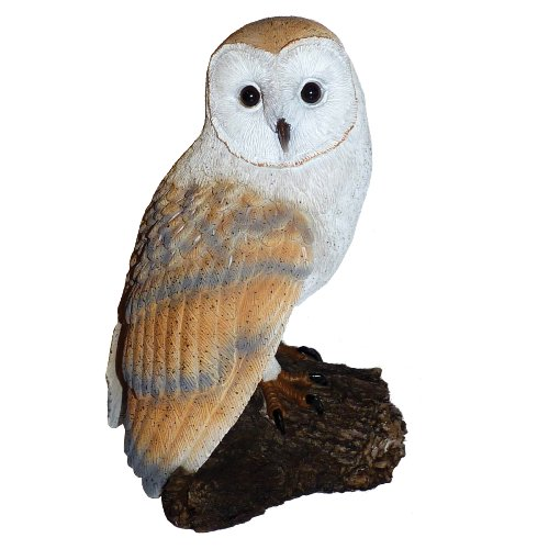 Michael Carr Designs 80050 Barn Owl on Log Outdoor Decor For Sale