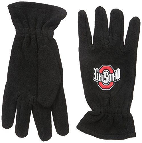 NCAA Ohio State Buckeyes Black Fleece Gloves, One Size, Black