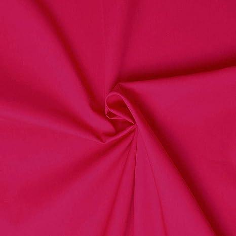 100/% Cotton Fabric 112cm Wide Plain Cambric Poplin Baby Pink, 1 Meter