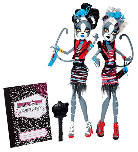 Monster High Zombie Shake Meowlody and Purrsephone Doll (2-Pack) (Monster High Dolls Zombie Dance)