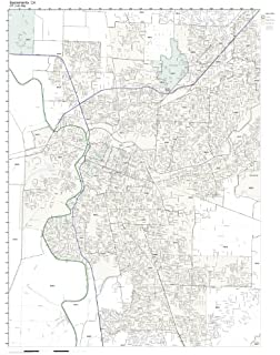 Amazon Com Greensboro Nc Zip Code Map Not Laminated Home Kitchen