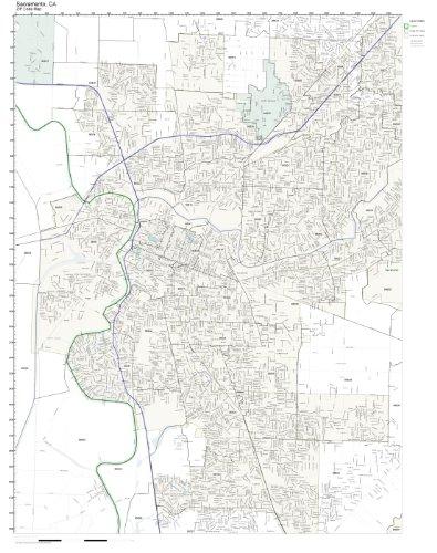 Zip Code Map Sacramento Ca.Amazon Com Zip Code Wall Map Of Sacramento Ca Zip Code Map