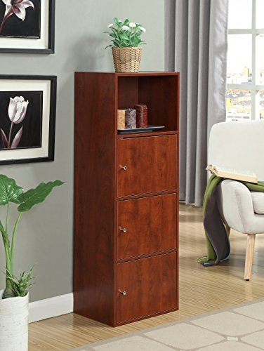 Convenience Concepts X-Tra Storage 3-Door Cabinet, Cherry (Room Shelves And Family Cabinets)